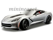 MAISTO 38132 EXCLUSIVE 2014 CHEVROLET CORVETTE STINGRAY C7 Z51 1/18 SILVER