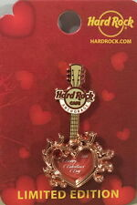 Hard Rock Cafe ANCHORAGE 2016 Valentine's Day PIN CARD Copper Heart Guitar LE100