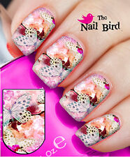 Nail Wraps Nail Art Nail Decals Nail Transfers Designs 20 Butterfly and Lace