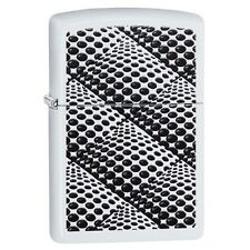 "Zippo ""Optical Squares"" White Matte Finish Lighter, Full Size,    29416"
