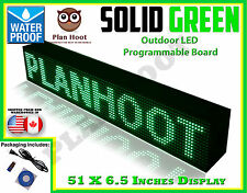 "GREEN - 51""X6.5"" LED PROGRAMMABLE SCROLLING SIGN - OUTDOOR (Totally Water Proof)"