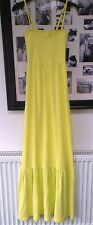JUICY COUTURE SUNLIT NEON YELLOW GREEN TERRY MAXI DRESS S 8 10 £115!