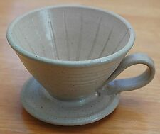 Large Handmade Pour Over Coffee Maker Pourover Dripper Heavy Ceramic Off Grid