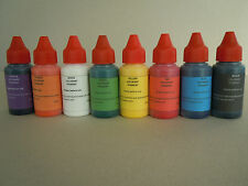 Eopxy resin color pigments colorants liquid set of  8 colors epoxy pigments