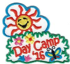 Girl Boy Cub DAY CAMP '16 2016 Patches Crests Badges SCOUT GUIDE camper camping