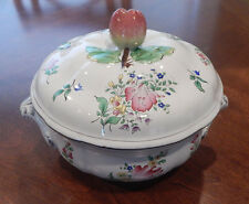 K G LUNEVILLE STRASBOURG PATTERN FAIENCE DE FRANCE TUREEN & LID (S) GREY TRIM