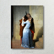 Hayez,Il bacio QUADRO INTELAIATO 70x50 ARTE STAMPA TELA QUADRI AMORE KISS QUADRI