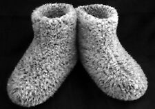Size 8 - GREY - MEN'S MERINO WOOL BOOTS WARM COZY SLIPPERS MOCCASINS CHUNI