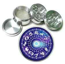 Horoscope R1 Metal Silver Aluminum Grinder 63mm Herb Spice 4 Piece Astrology