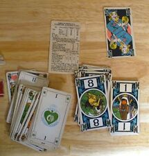 RARE GREEN SPADE TAROK POW WOW INDIAN CARDS AUGUST PETRTYL 1921 COMPLETE