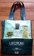Whole Foods Reusable Bag by Matte Stephens Winter Scenes Snowman & Cat Pre-owned