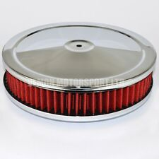 "9"" / 230mm Pancake Air Filter Red Ideal For V8, Chevy, Ford Small Block, SU Carb"
