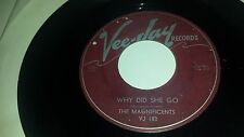 THE MAGNIFICENTS Why Did She Go / Up On The MOuntain VEE-JAY 183 DOO WOP 45