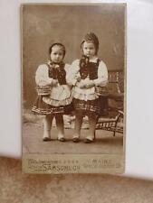 Antique CDV Cabinet Photo c1900 Little Red Riding Hood Girls w Baskets So Cute