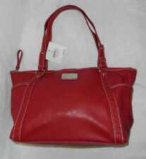 "Nine West  Purse NWT Town Shopper 17"" X 10.25"" X 5.5"" Strap Drop 9.5"" Burgundy"