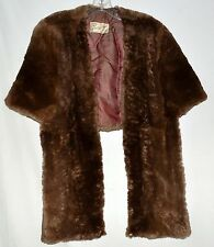 Vintage Philip Surfas Furs Beaver Fur Wrap Shawl Stole with 2 Pockets in Lining