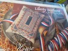 Liberty Starburst Patriotic Pin Pillow Cross Stitch Kit-3.6x4.9 Inches-Summer Ho