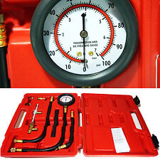 Fuel Injection Pump Injector Tester Kit Test Pressure Gauge Gasoline Cars Trucks