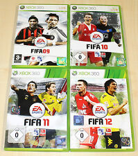 4 xbox 360 jeux collection FIFA 09 10 11 12-football soccer football (14 15)