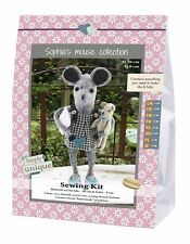 Go Handmade Ida 20cm & Felix 9cm The Mice Sewing Felt Needlework Complete Kit!