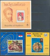MICHELANGELO LOT III OF STAMPS AND SOUVENIR SHEETS MINT NH  AS SHOWN