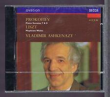 PROKOFIEV LISZT CD NEW ASHKENAZY PIANO SONATAS