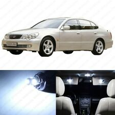 11 x White LED Interior Lights Package For 1998 - 2005 Lexus GS300 GS400 GS430