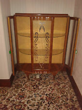 "Vintage ""Barget"" Built Retro Bow Fronted China / Display Cabinet Shabby chic"