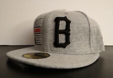 BLACK SCALE X NEW ERA FLAG B GRAY LOGO MENS HAT FITTED HAT SIZE 7 1/4 57.7 cm
