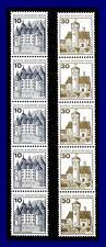 BERLIN Letterset BuS, Mi.532 A RII und 534 A RII, Fünferstreifen,kompletter Satz