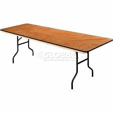 """Interion Plywood Folding Banquet Table 96"""" L x 30"""" W"""