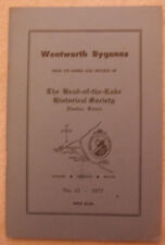 Wentworth Bygones- Head-of-the-Lake historical Society, Ontario  No. 12- 1977