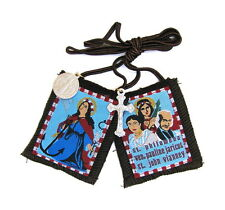 Scapular St Philomena Cord Brown Scapular 100% Wool Brown Cord Medals Catholic