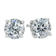 Cool Silver/White Gold Filled Round 8MM CZ Mens Stud Earrings,No Allergy,Z3744