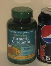 LARGE Bottle, Turmeric Curcumin,  SIX MONTH SUPPLY (includes EXTRACT)