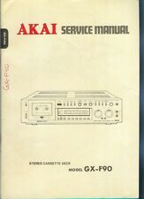 Orig Factory Akai  GX-F90 Stereo Cassette Tape Deck Service Manual Parts List