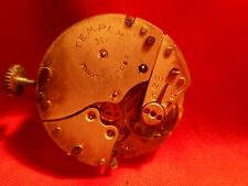 VINTAGE TEMPEX 36 WATCH MOVEMENT RUNS GOOD BALANCE  PARTS AS IS RARE !