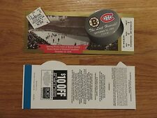 LAST HURRAH Boston Bruins vs Canadiens 9-26-95 Ticket BOBBY ORR RAY BOURQUE