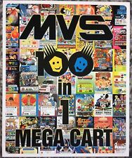 MVS 100 In 1 Mega Cart/ Multicart Neo Geo Mini Arcade Marquee