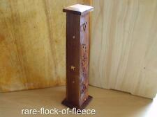 INCENSE SHESHAM WOOD SMOKING TOWER NEW AGE GOTHIC MYSTIC ORNAMENT