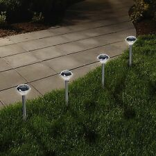 LED Solar Pathway Lights Diamond Shaped Complete Set of 24 Lights 13 Inches
