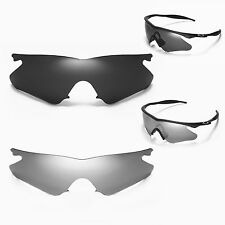 Walleva Polarized Titanium + Black Lenses For Oakley M Frame Heater Sunglasses