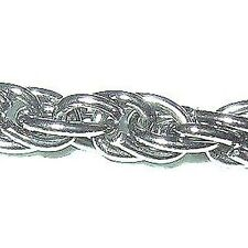 1 meter 3mm Thick Silver Plated Pretzel Chain - A5430