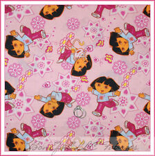 BonEful Fabric FQ Cotton Quilt Pink DORA Explorer Boots Monkey Flower Girl Dress