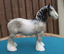 RARE BESWICK ROCKING HORSE GREY SHIRE MARE  818 - PERFECT!