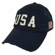 Navy Blue USA Flag Vintage America US American Distressed Baseball Cap Hat
