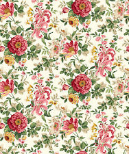 Victorian Rose Floral on Cream, Pink Lilies, Charlotte, Northcott (By 1/2 yard)