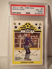 1977 O-Pee-Chee WHA Gordie Howe PSA NM-MT (8MC) Hockey Card #1 NHL Collectible