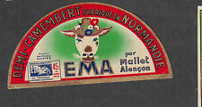 Ancienne   étiquette  Fromage Camembert Normandie  BN1905 Ema Vache