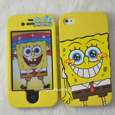 New Yellow SpongeBob Fullbody front back hard case cover for Apple iphone 4s 4G